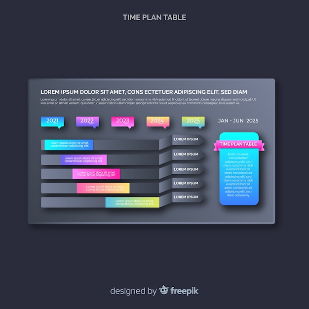 Time plan table Free Vector