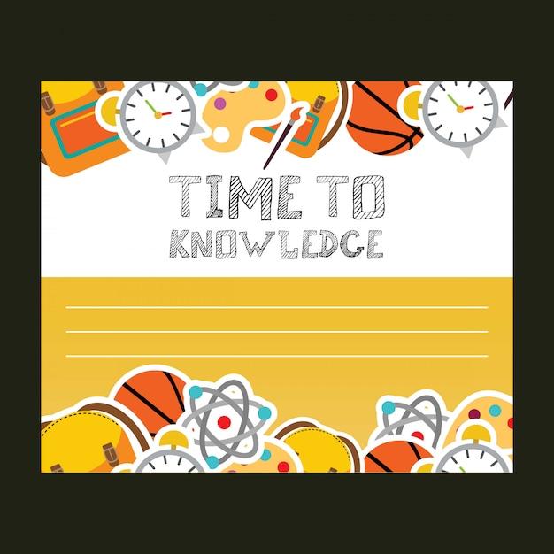 知識のタイポグラフィの設計ベクトル 無料ベクター