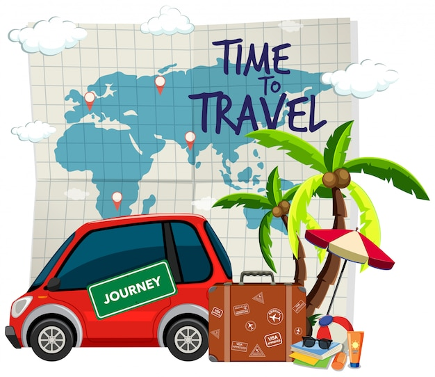 Time to travel template Free Vector