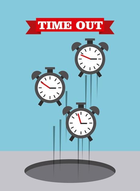 Time up design, vector illustration eps10 graphic Premium Vector