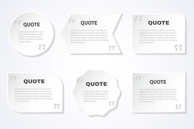 Timeless wisdom quotes icons set Free Vector
