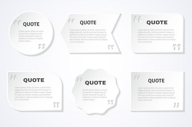 Вневременная мудрость цитирует набор значков Бесплатные векторы