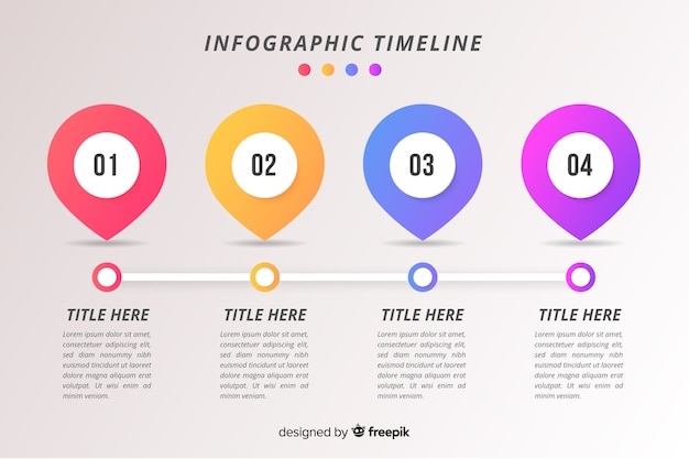 Timeline business infographic Free Vector
