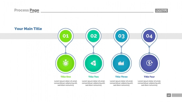 Timeline Chart Template Of Four Positions Vector Premium Download - Timeline chart template