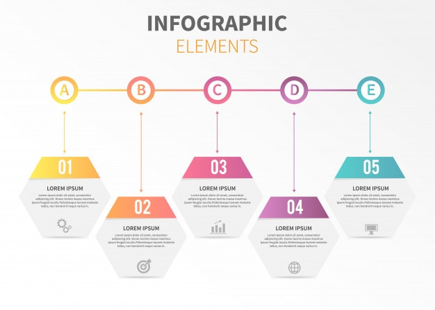 Timeline horizontal infographic template Vector | Premium