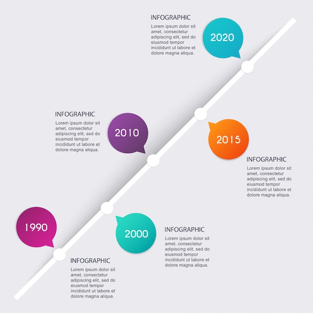 Timeline infographic design templates. charts, diagrams and other  elements for data and statistics presentation. Premium Vector