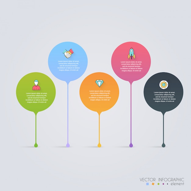 Timeline infographic design templates. charts, diagrams and other vector elements for data and statistics presentation Premium Vector