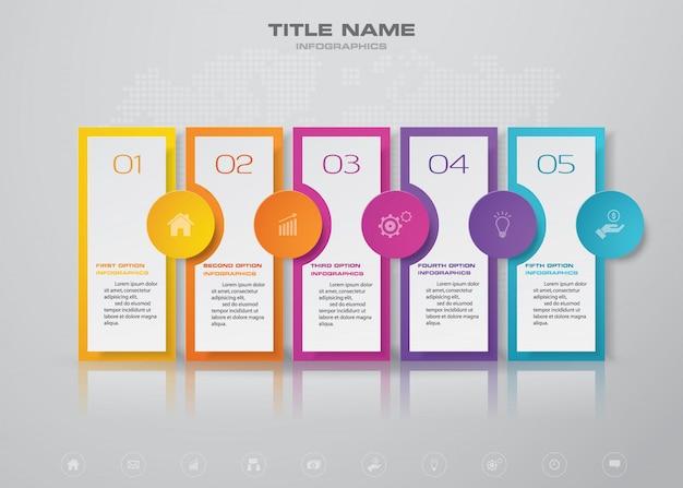 Timeline infographic element chart. Premium Vector
