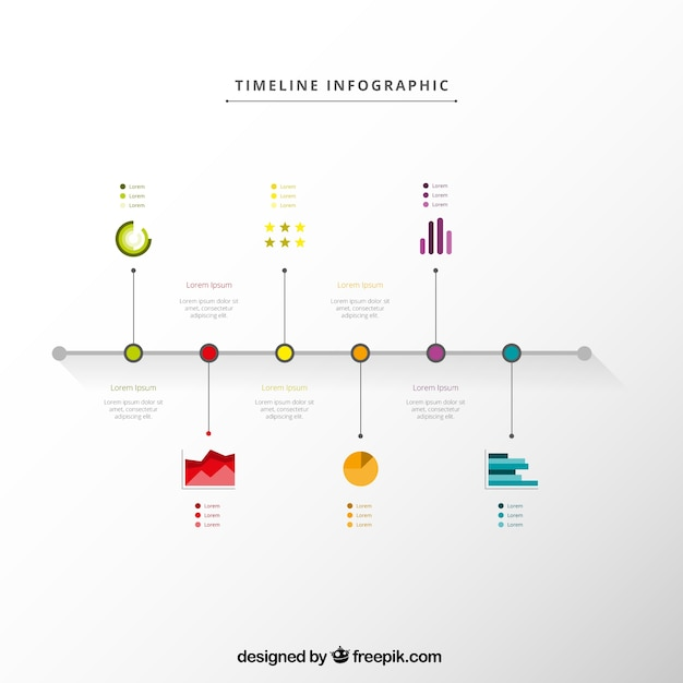 timeline infographic in minimal style vector free download