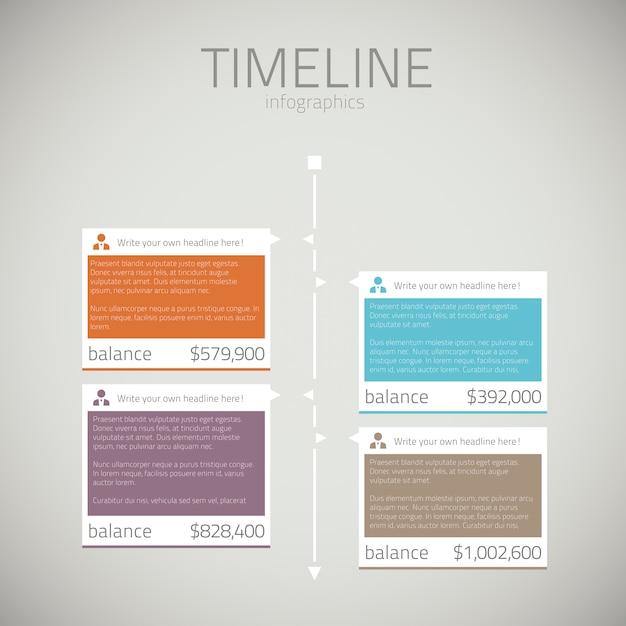 Timeline infographic template vector Premium Vector