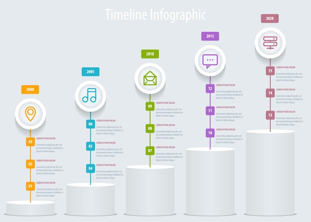 Timeline infographic. template Premium Vector