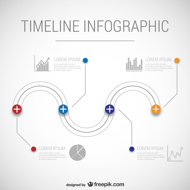 Infographic Templates free timeline infographic templates : Timeline infographic template Vector | Free Download