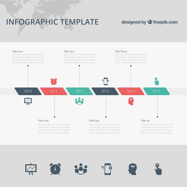 Timeline Infographic Template Vector Free Download - Template of a timeline