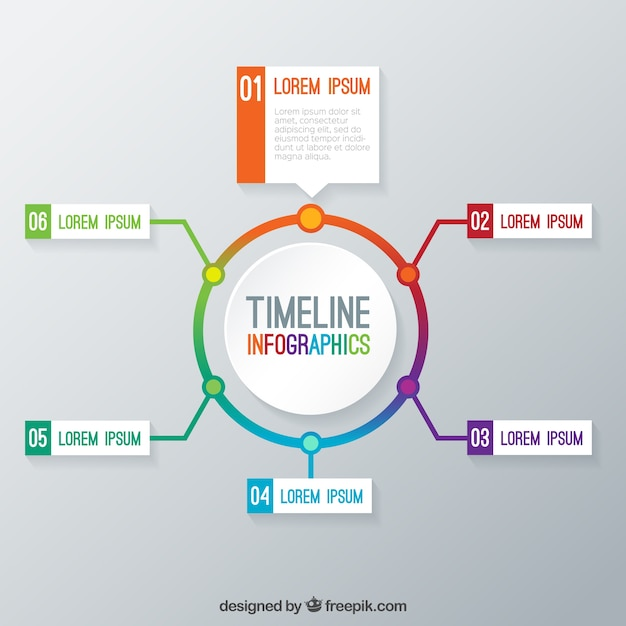Timeline Infographic Template Vector Free Download - Timeline graphic template