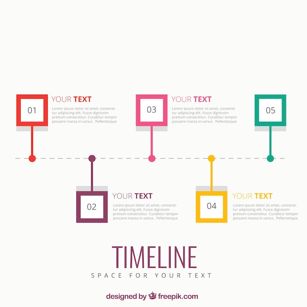 Timeline Infographic Template Vector Free Download - Timeline design template