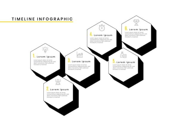 타임 라인 infographic 템플릿 무료 벡터