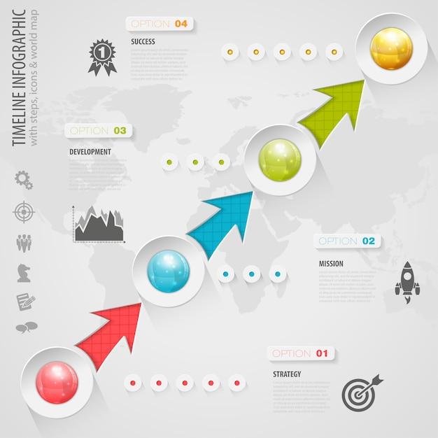 Timeline infographic Premium Vector