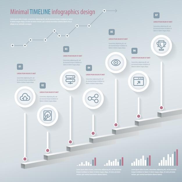 Timeline infographic. Premium Vector