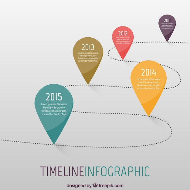 Timeline infographic Vector | Free Download