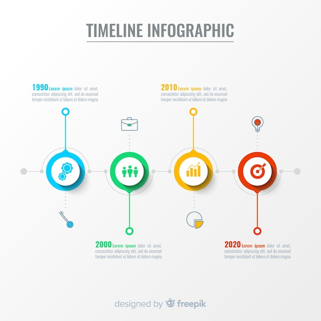 Timeline infographic Free Vector