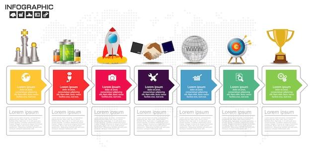Timeline infographics design template. Premium Vector