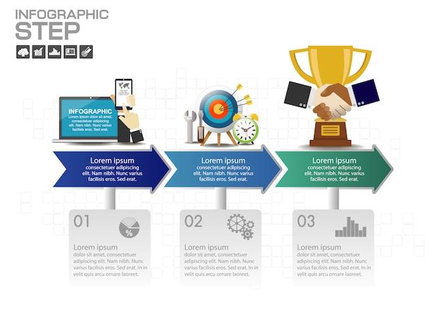 Timeline infographics design template Premium Vector