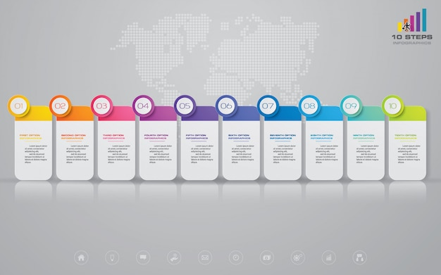 Timeline infographics element Premium Vector