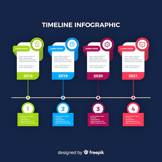 Timeline professional infographic Free Vector