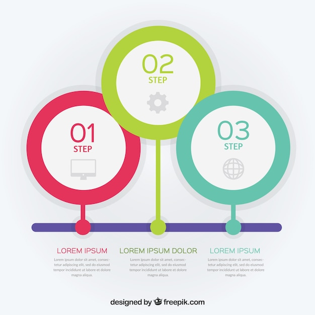 Timeline Template With Steps Vector  Free Download