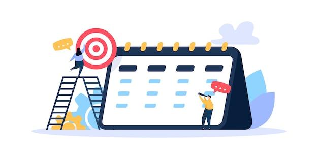 タイミングとプロジェクトのスケジュール Premiumベクター