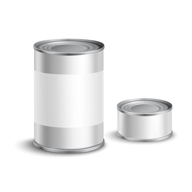 Tin can set Free Vector