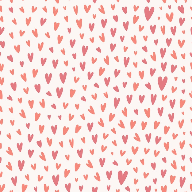 Tiny heart shape seamless pattern Premium Vector