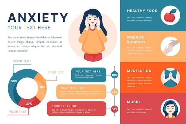 Suggerimenti per l'ansia infografica Vettore gratuito