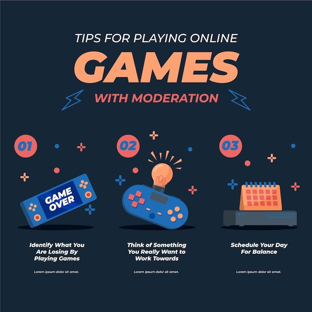オンラインでプレイするためのヒント 無料ベクター