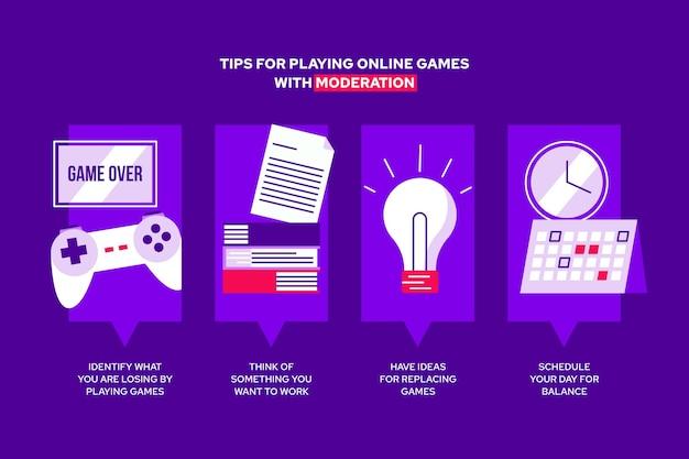 Советы по игре в видеоигры с модерацией Бесплатные векторы