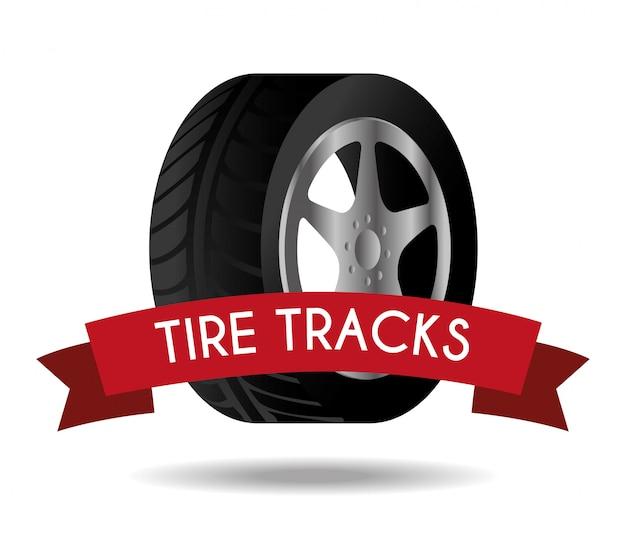 Tire design Premium Vector