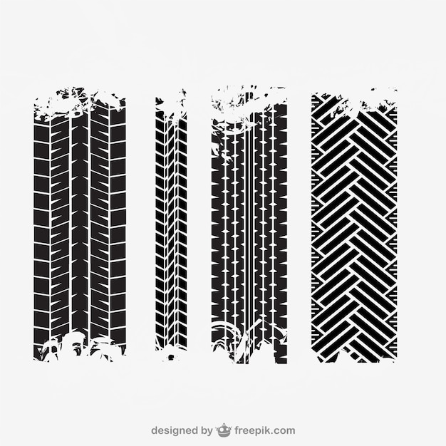 Tire tracks Free Vector