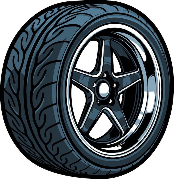 Tire Premium Vector