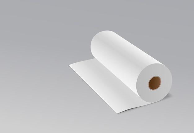 ティッシュロングロールホワイトペーパー。 Premiumベクター