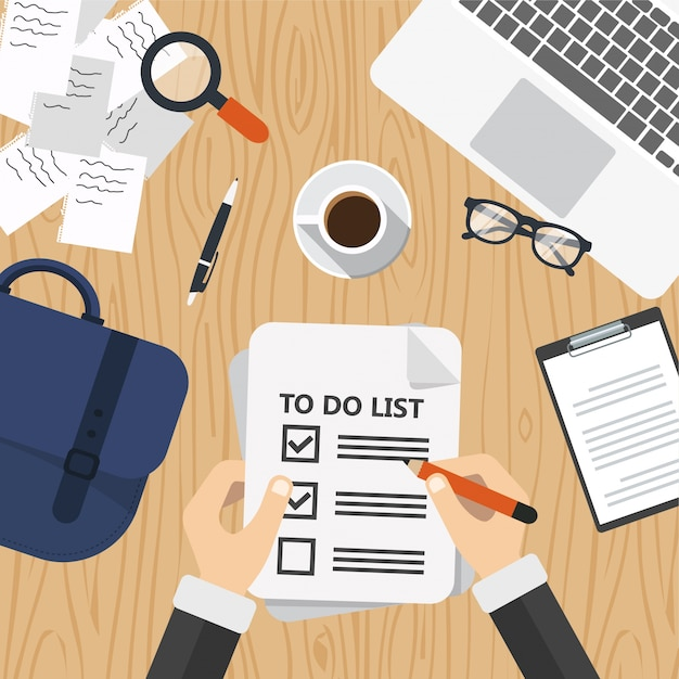 to do list concept vector free download