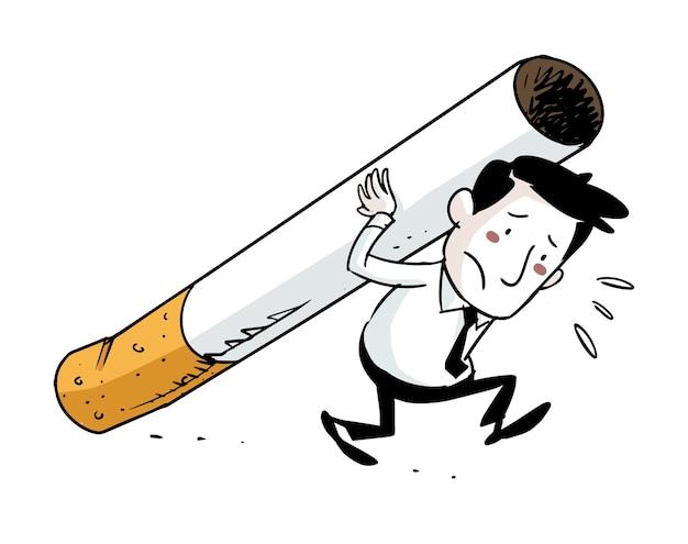 Tobacco addict Premium Vector