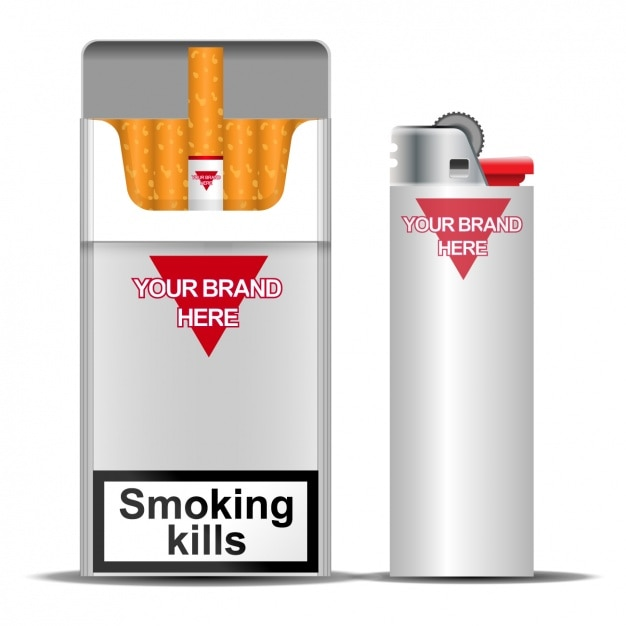 Tobacco pack Free Vector