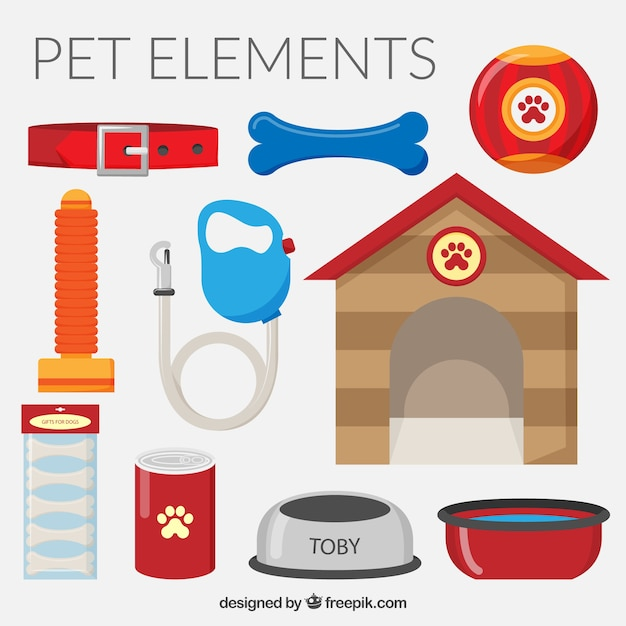 Toby elements pack Free Vector