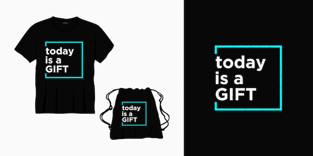 今日はtシャツ、バッグ、または商品のギフトのタイポグラフィレタリングデザインです。 Premiumベクター