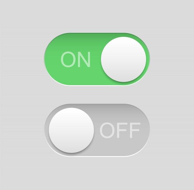 スイッチアイコンを切り替えます。ボタンをオフにします ...