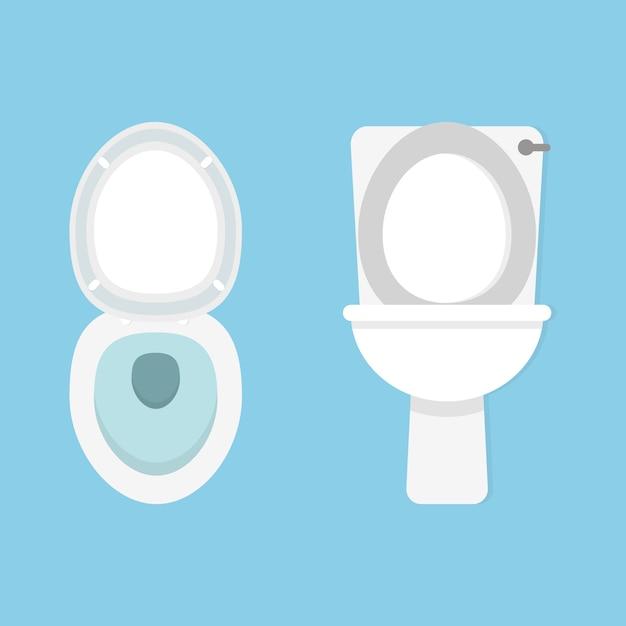 Toilet bowl.  style Premium Vector