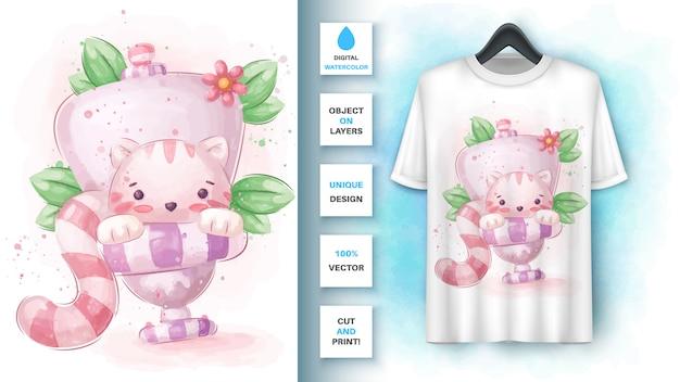 Туалетная кошка, туалетная реклама Бесплатные векторы