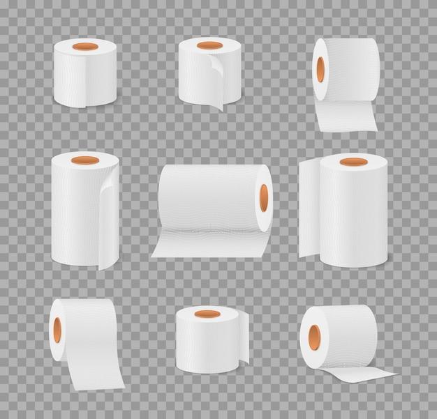 Рулон туалетной бумаги для ванной и туалета Premium векторы