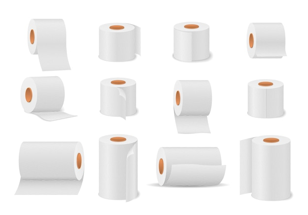 バスルームとトイレ用のトイレットペーパーロール Premiumベクター