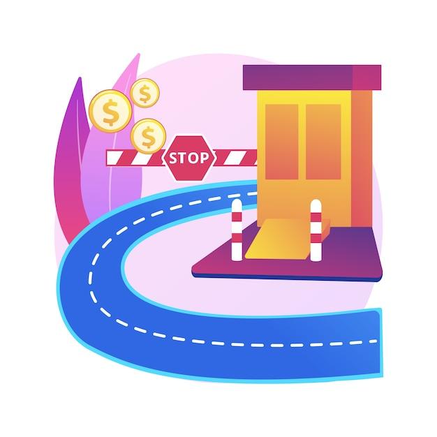 Toll road illustration Free Vector